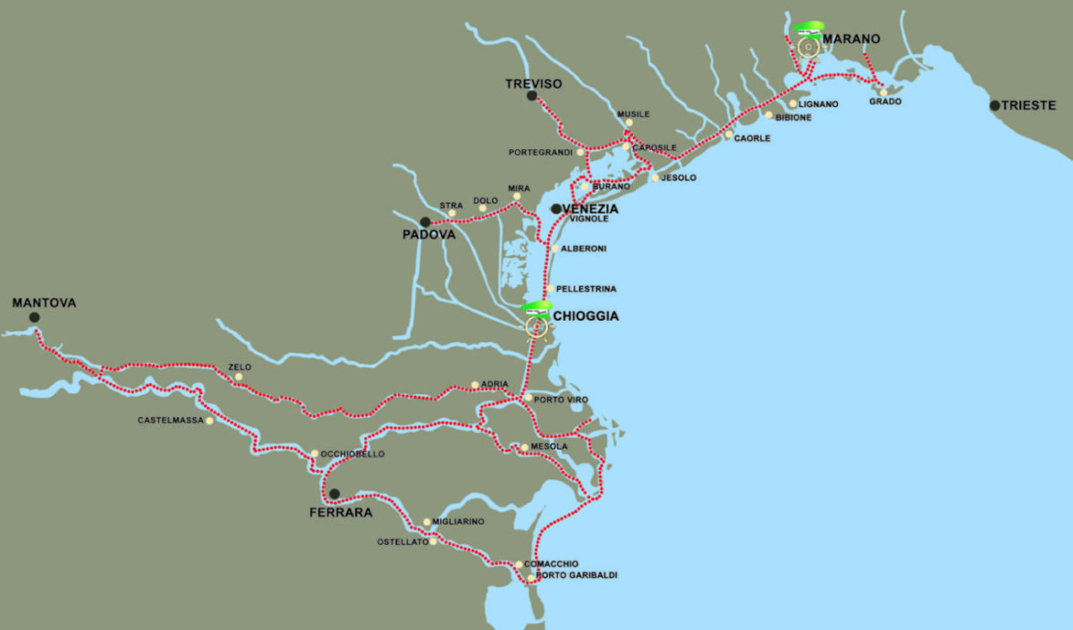 Itinéraire Chioggia Marano bateau habitable houseboat