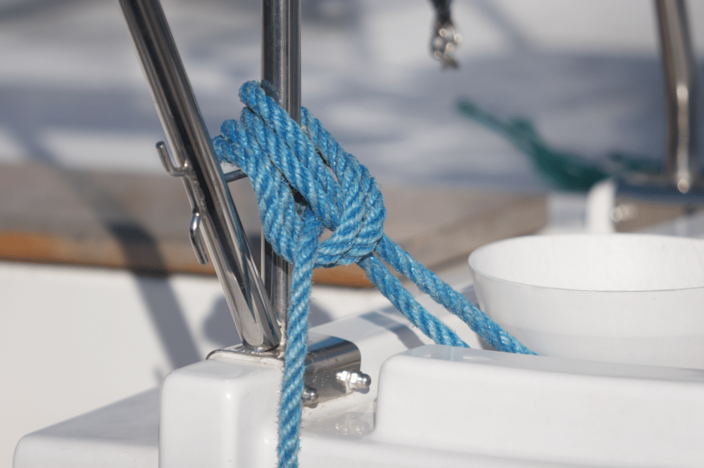 Knot blue Rope Boat