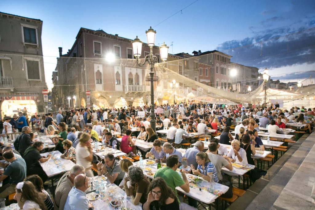 fish festival in Chioggia party people