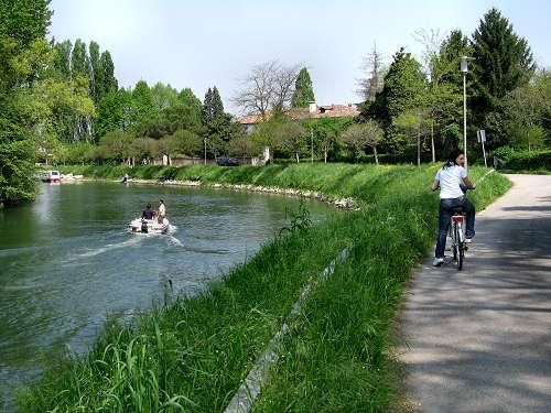 Alzaie del Sile a Treviso in bicicletta