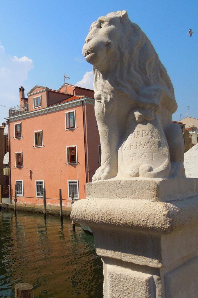 Lion bridge of Vigo in Chioggia Venice in Riva Vena