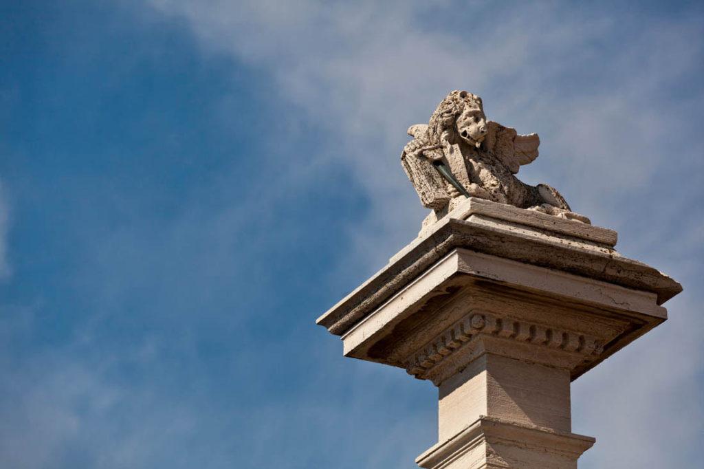 The lion of Chioggia Column of Piazza Vigo