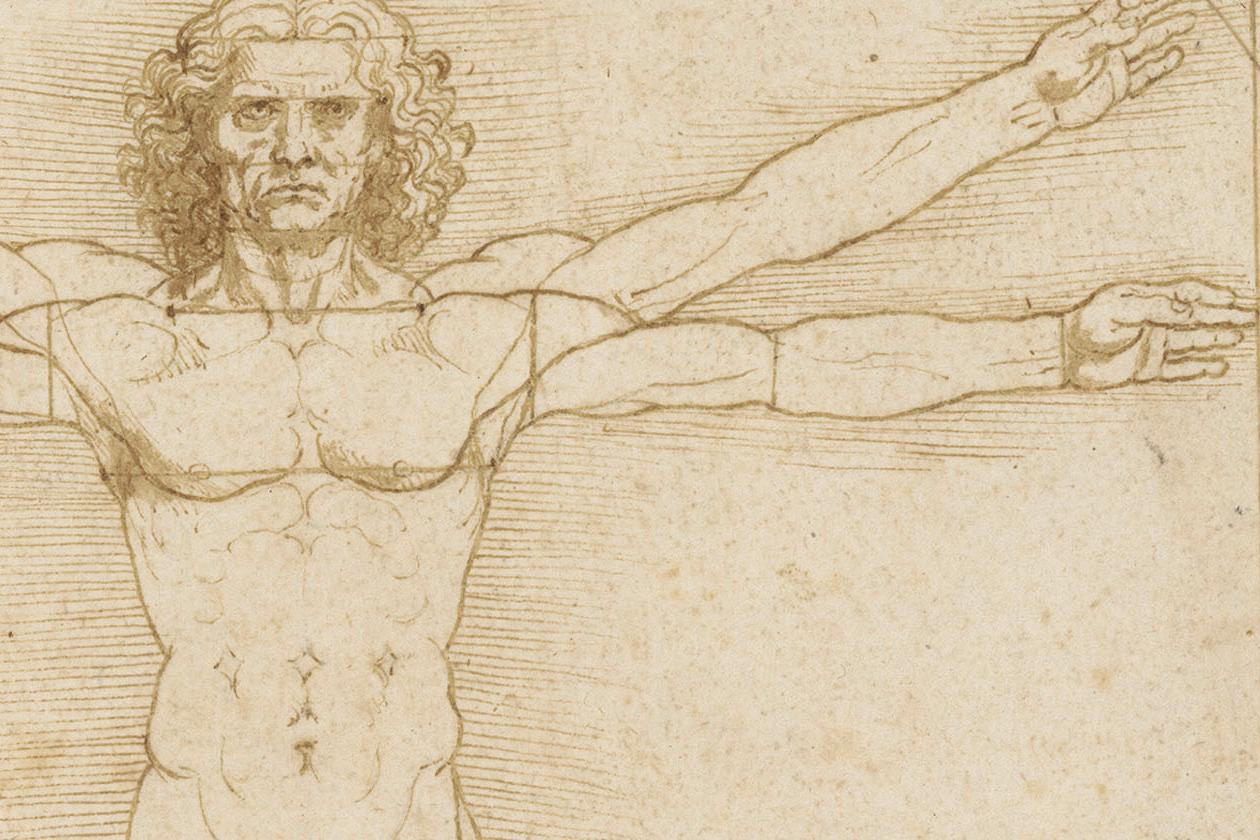 Authentic human bodies a venezia Lonardo uomo vitruviano