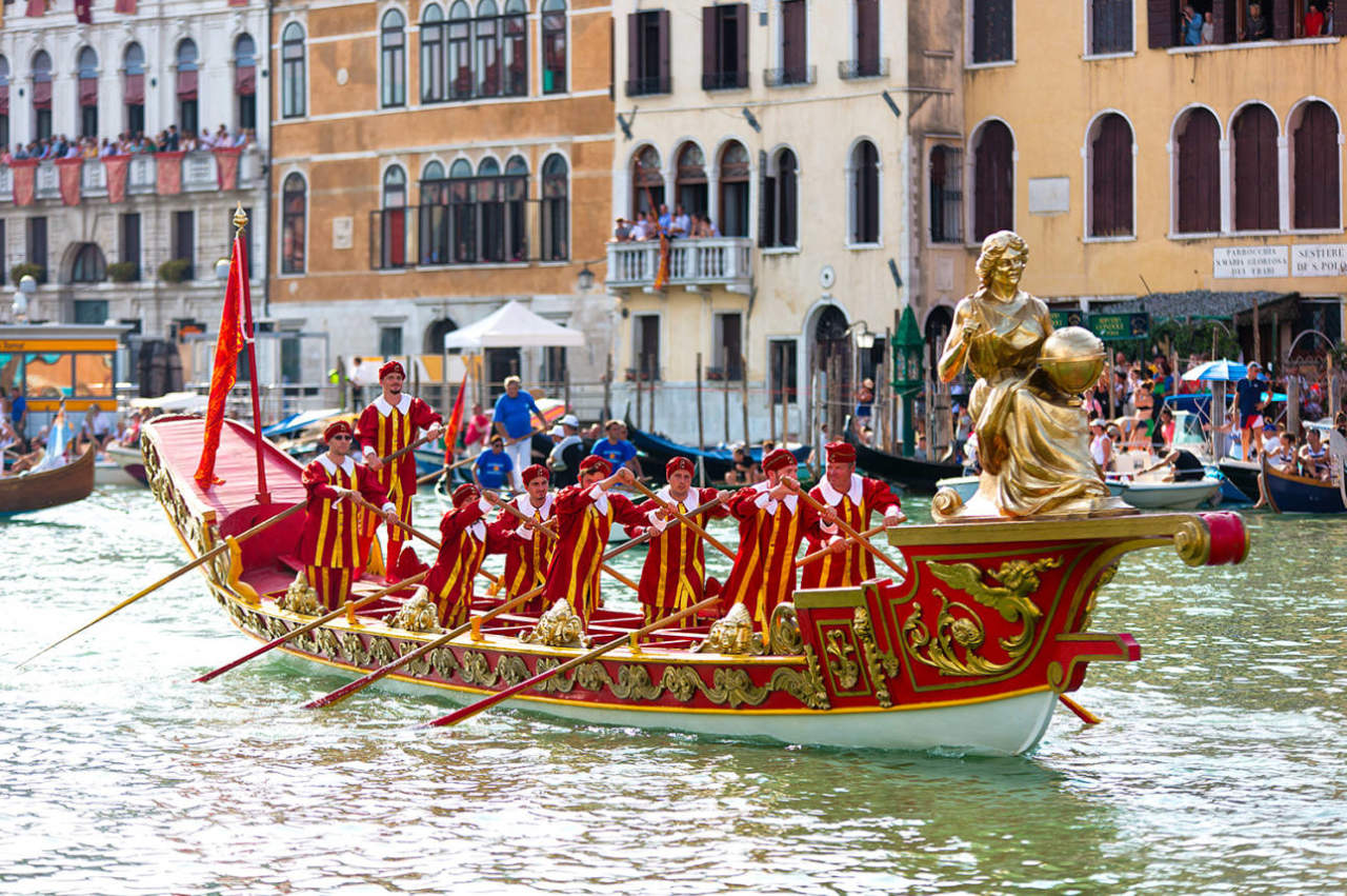Venezia Regata Storica corteo storico