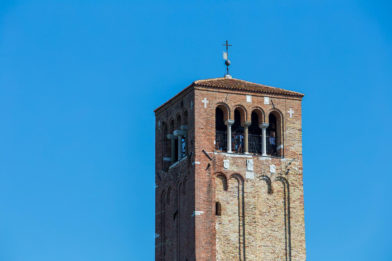 particolare campanile basilica torcello santa maria assunta